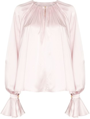 Roksanda Pia draped blouse