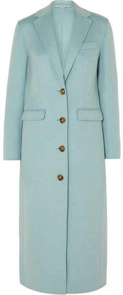 Elizabeth and James Russel Wool-blend Coat - Sky blue