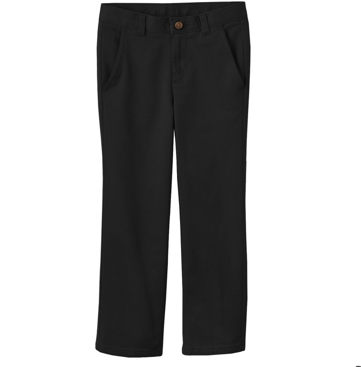 Chaps Boys 4-7 School Uniform Flat Front Twill Pants