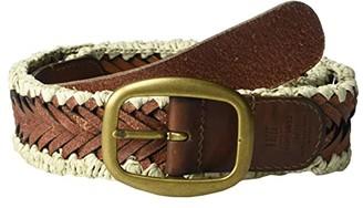 Frye 35 mm Woven Belt (Tan) Women's Belts