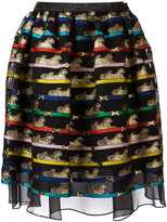 Mary Katrantzou Algernon tiger print skirt - women - Silk/Polyester - 8
