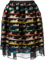 Mary Katrantzou Algernon tiger print skirt