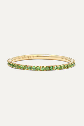 Ileana Makri Thread 18-karat Gold Tsavorite Ring - 7
