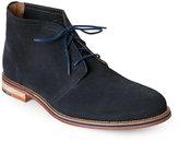 J Shoes Navy Archie 2 Plain Toe Chukka Boots