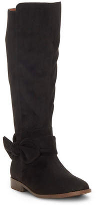 Lucky Brand Kids by Vince Camuto Big Girl and Little Girl Tall Boot with Inside Zip and Bow Embellishment