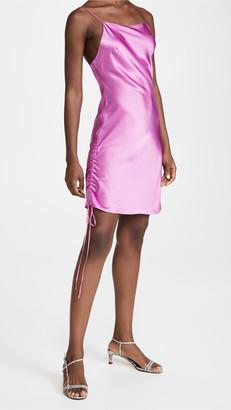 Dannijo Ruched Mini Silk Dress