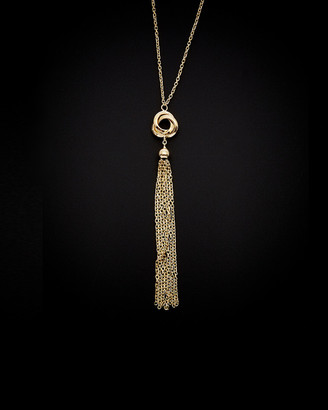 Italian Gold 14K Knot & Tassel Necklace