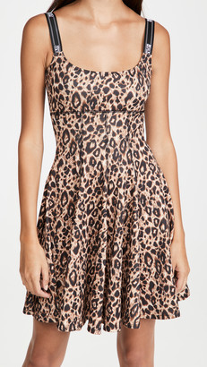 Versace Leopard Fit and Flare Dress