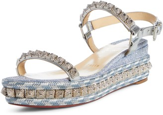 Christian Louboutin Pira Studded Wedge Sandal