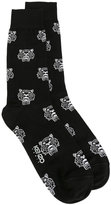 Kenzo all-over 'Mini Tiger' socks - men - Cotton/Polyamide - S