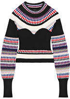 Burberry Ribbed Intarsia-knit Sweater - Black