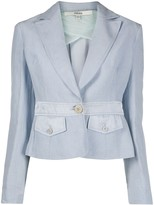 Gianfranco Ferre Pre Owned 1990s fitted waist jacket