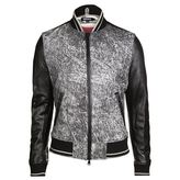 Dkny Patterned Baseball Jacket