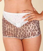 Lucy B Leopard Kitten High-Waist Girdle Panty