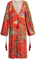 ADRIANA DEGREAS Dragon-print crepe tunic