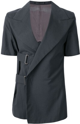 Yohji Yamamoto Pre-Owned pointed lapels belted jacket