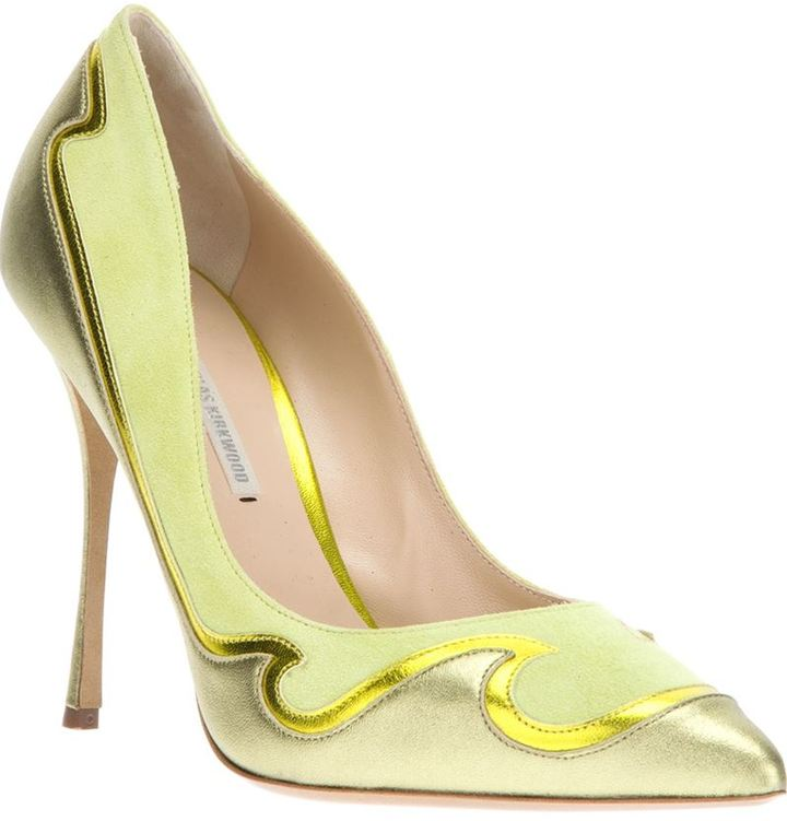 Nicholas Kirkwood paneled pointed toe pump