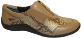 Ros Hommerson Nude & Bronze Nadia Leather Sneaker