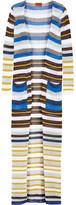 Missoni Metallic Striped Crochet-knit Cardigan - White