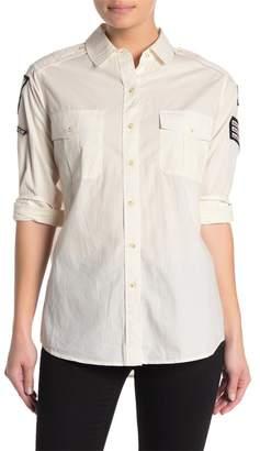 AllSaints Patch Military Shirt