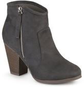Brinley Co. Women's Wide Width Faux Suede High Heel Ankle Boots
