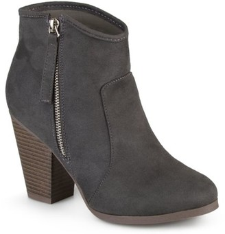 Brinley Co. Women's Wide Width Faux Suede High Heel Ankle Boots