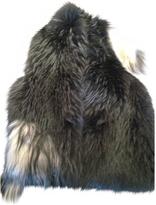 Maison Margiela Black Fur Coat