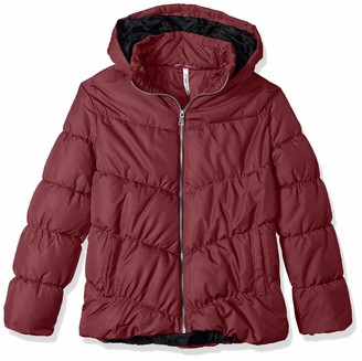 Pink Platinum Junior's Plus Size Polyfill Puffer