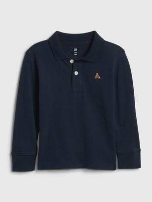 Gap Toddler Long Sleeve Polo Shirt Shirt