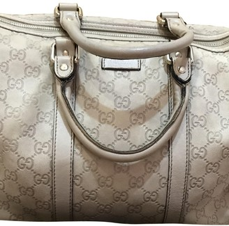 Gucci Boston Grey Leather Handbags
