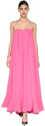 DELPOZO Long Silk Georgettes Dress