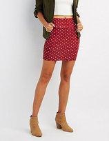 Charlotte Russe Polka Dot Bodycon Mini Skirt