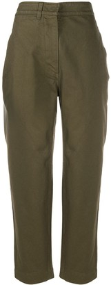 Margaret Howell Clinched Back Cropped Trousers