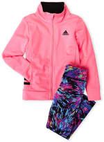 adidas Toddler Girls) Two-Piece Tricot Jacket & Printed Leggings Set