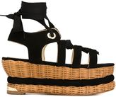 Paloma Barceló woven platform sandals - women - Leather/Suede/Cotton - 38