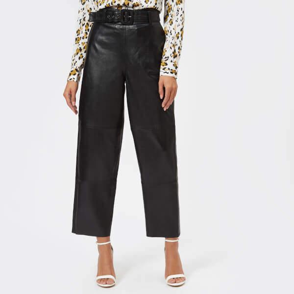 738ea6b5fada47 Black Leather Trousers - ShopStyle UK