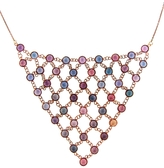 OONA Collections Net Multi-Colored Sapphire Necklace