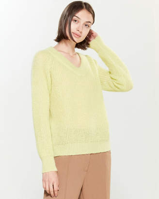 Roberto Collina Mohair-Blend Open Knit Long Sleeve Sweater