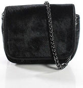 Sam Edelman Black Leather Trim Small Crossbody Handbag