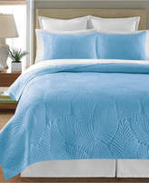 CLOSEOUT! Martha Stewart Collection 100% Cotton Atlantic Palm Full/Queen Quilt, Created for Macy's
