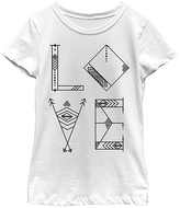 Fifth Sun White 'Love Lines' Crewneck Tee - Girls