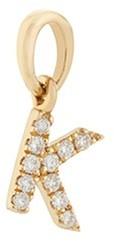Loquet London Diamond 18k yellow gold letter charm K