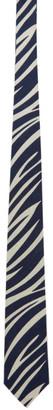 Blue Blue Japan Navy and White Bassen Tie