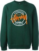 Stussy embroidered logo sweatshirt