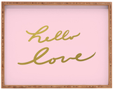 DENY Designs Hello Love Large Rectangular Tray