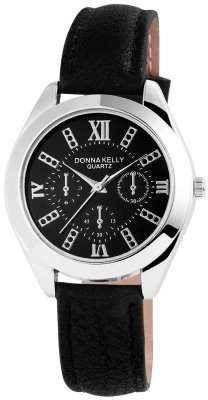 Donna Kelly Womens Analogue Quartz Watch with Leather Strap 191021100004
