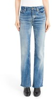 Saint Laurent Women's Raw Hem Flare Jeans