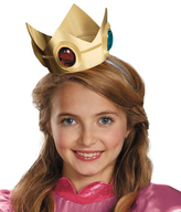 Disguise Super Mario Brothers Princess Peach Crown & Amulet - Girls