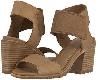 Sorel Nadiatm Sandal (Camel Brown Full Grain Leather) Women's Sandals