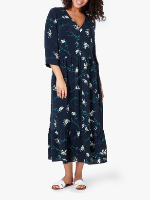 Live Unlimited Curve Floral Midi Dress, Navy